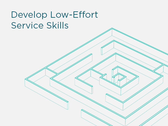 Develop Low-Effort Service Skills Medium