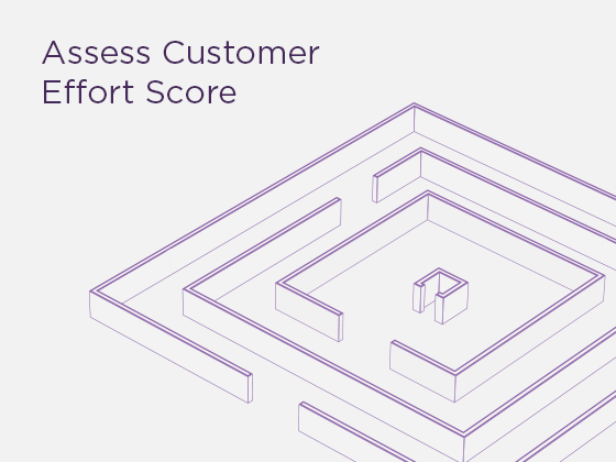 Assess Customer Effort Score