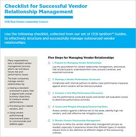 5 Steps for Successful Vendor Relationships - CEB