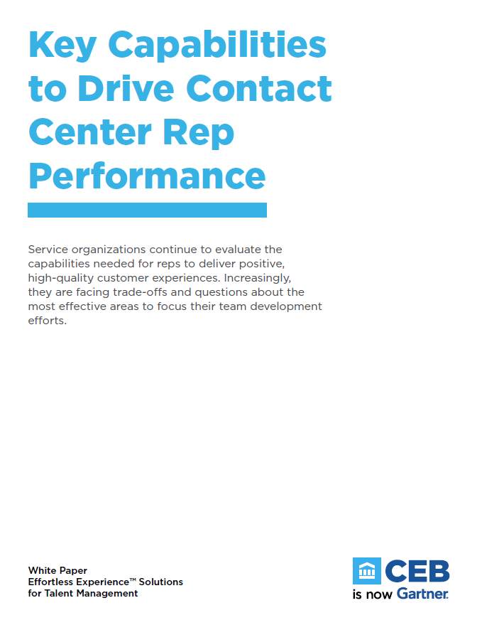 Key Capabilities to Drive Contact Center Rep Performance