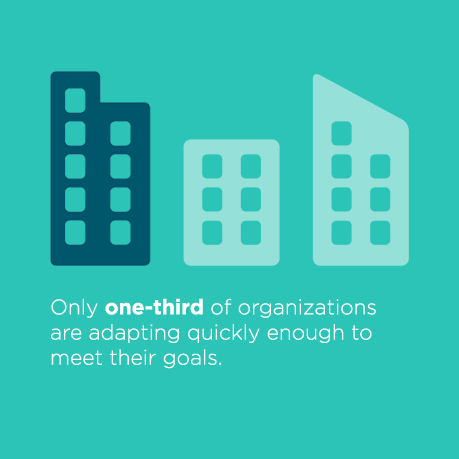 Only one-third of organizations are adapting quickly enough to meet their goals.