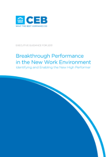 Breakthrough Performance in the New Work Environment
