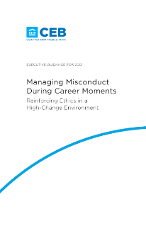 Managing Misconduct During Career Moments
